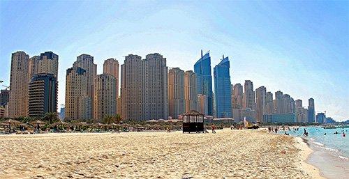 La playa en Jumeirah Beach Residence